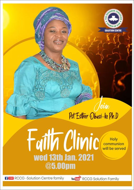 Pastor Esther Obasi-ike Ph.D, The Redeemed Christian Church of God( RCCG) Solution Centre